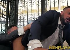 Work partners Damon Heart and Marco Napoli analbanging rough